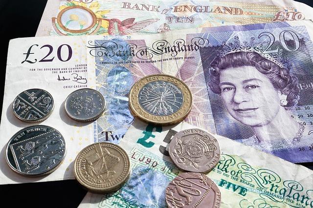 peníze Velké Británie